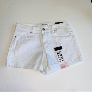 Almost Famous Mid Rise Midi White Shorts - Size 9
